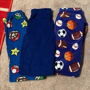3 pairs of boys pajama pants